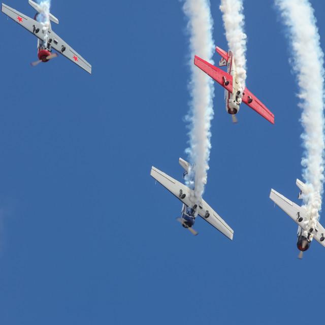 """Aerobatic team"" stock image"
