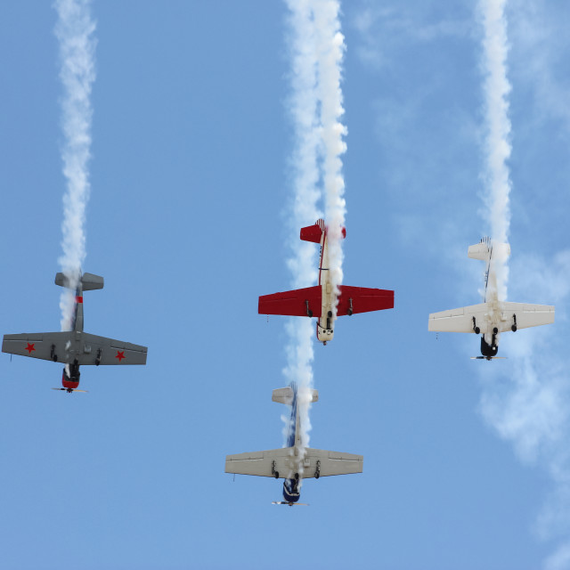 """Aerobatic display"" stock image"