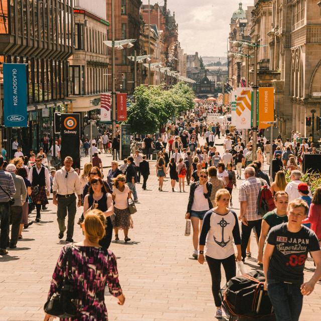 """Buchanan Street, Glasgow"" stock image"