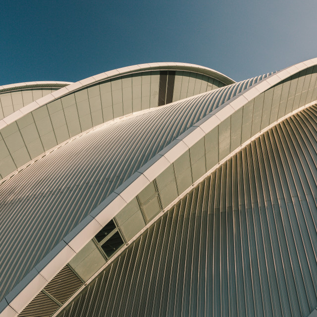 """Roof detail of Glasgow Auditorium"" stock image"