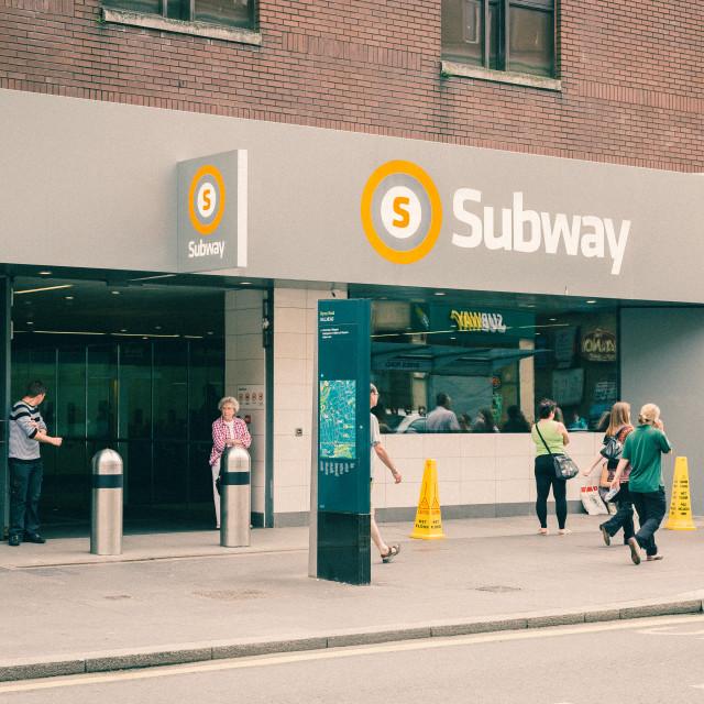 """""""Glasgow Hillhead Underground"""" stock image"""