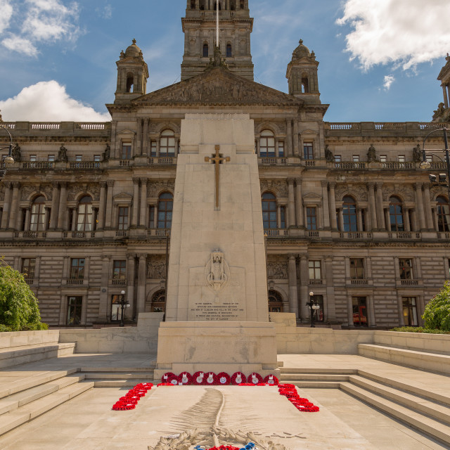 """Cenotaph, Glasgow"" stock image"