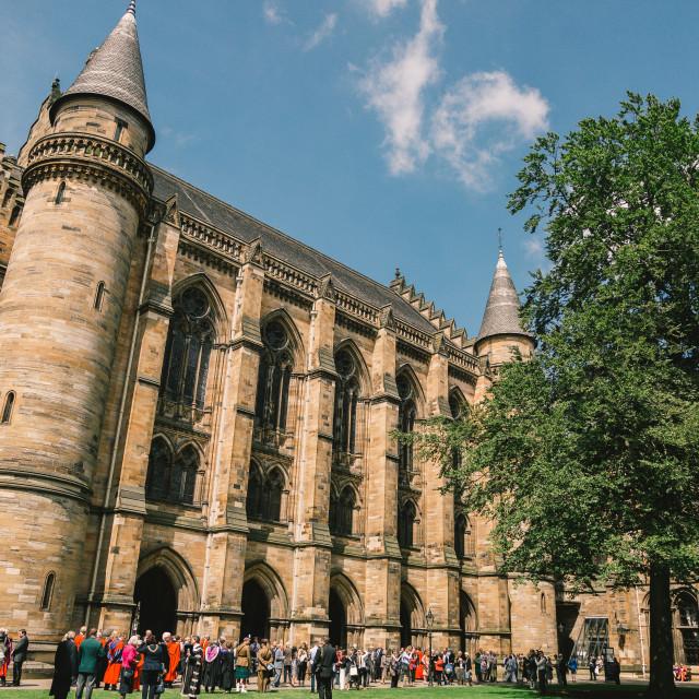 """Glasgow University graduation day"" stock image"