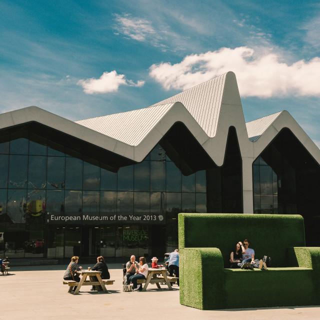 """Riverside Museum, Glasgow"" stock image"