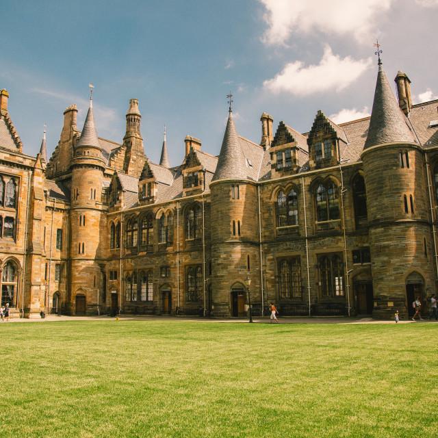 """""""Glasgow University grounds"""" stock image"""
