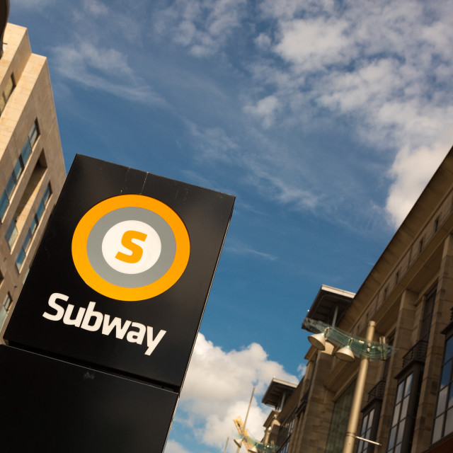 """Glasgow Subway sign"" stock image"