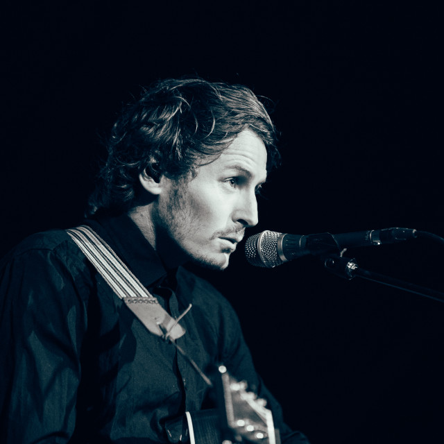 """Ben Howard at Somersault Festival Singing"" stock image"
