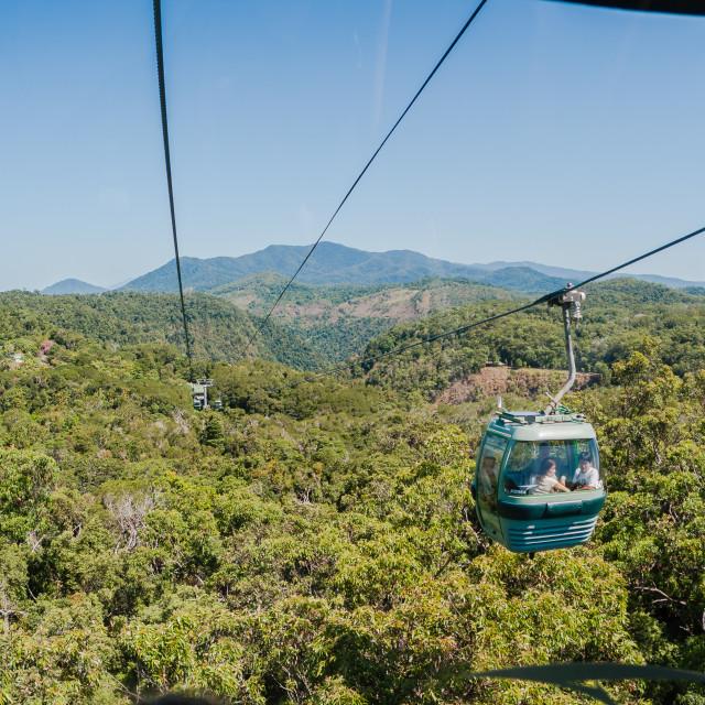 """Cable Car Kuranda Forests Queensland Australia"" stock image"