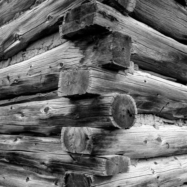 """Log Cabin corner"" stock image"