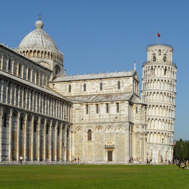 """Pisa and Piazza dei Miracoli"" stock image"