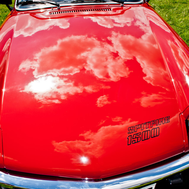 """""""Triumph Spitfire Bonnet"""" stock image"""