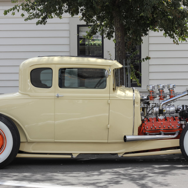 """Model A street rod"" stock image"