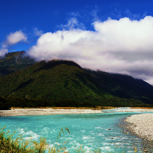 """Turquoise River"" stock image"