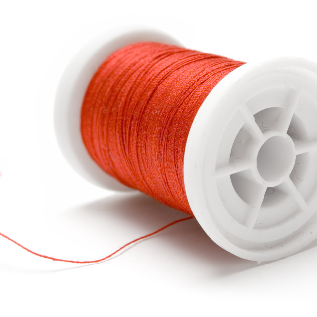 """Spool of Red Thread"" stock image"
