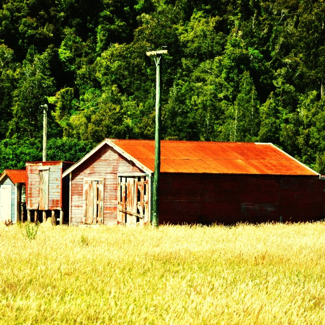 """Farm Shed"" stock image"