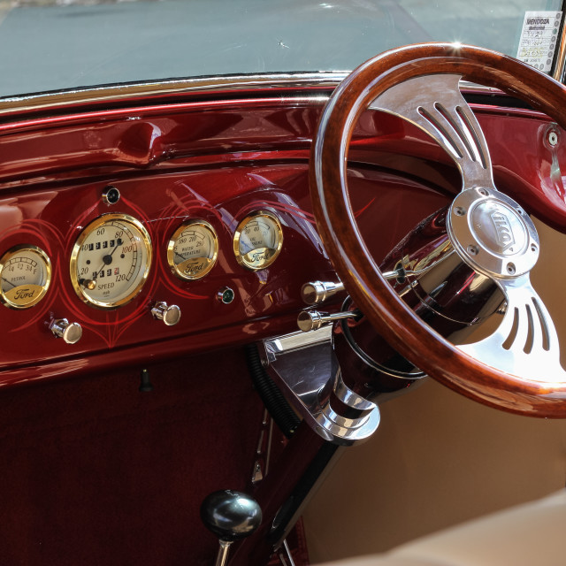 """Ford Phaeton interior"" stock image"