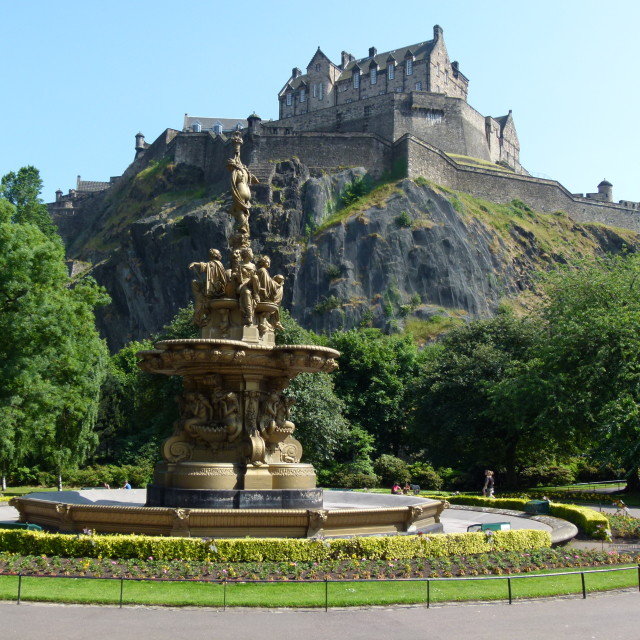 """Edinburgh Castle"" stock image"