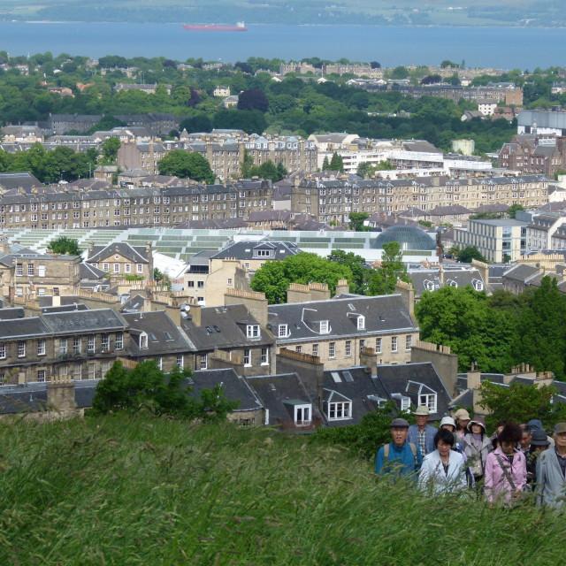 """Tourists, Edinburgh"" stock image"