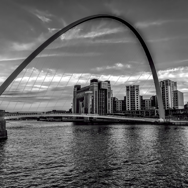 """""""Gateshead Millenium Bridge"""" stock image"""