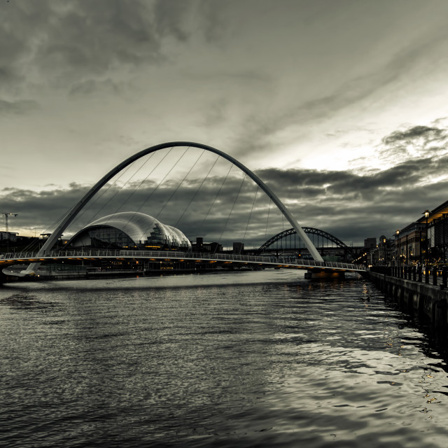 """Quayside Evening"" stock image"