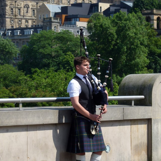 """Lone piper"" stock image"