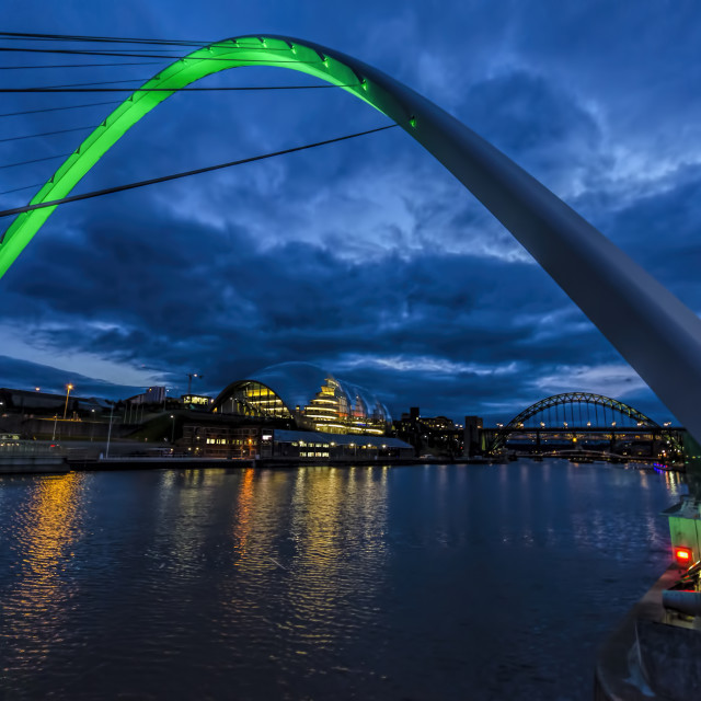"""Towards the Sage River Tyne"" stock image"