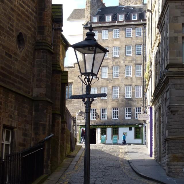 """Old Town Edinburgh"" stock image"