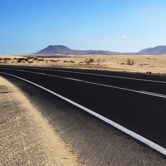 """""""Road across the desert"""" stock image"""