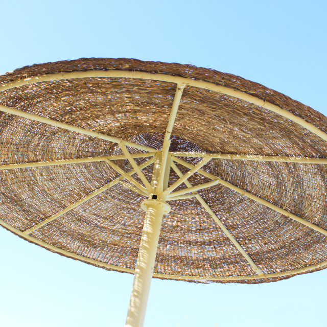 """""""Parasol and blue sky"""" stock image"""