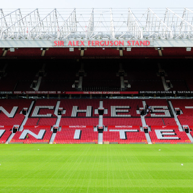 """Old Trafford Sir Alex Ferguson stand"" stock image"