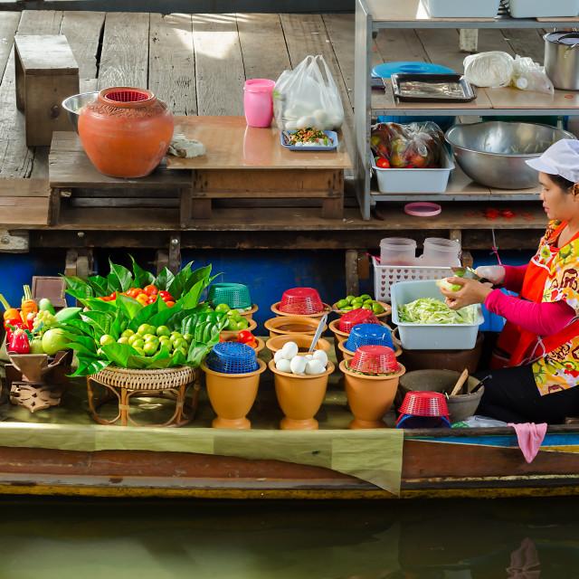 """Floating Salad Bar"" stock image"