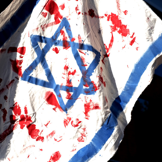 """Palestine Solidarity Campaign,BBC ,Nottingham ."" stock image"