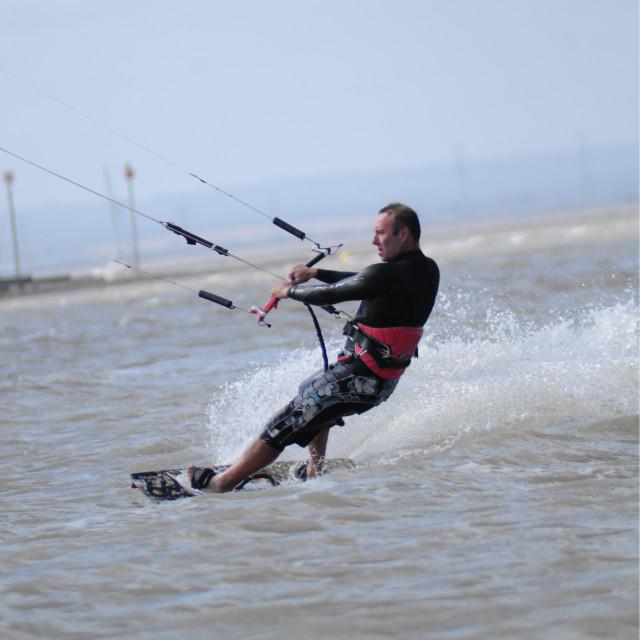 """Lone kitesurfersurfer"" stock image"