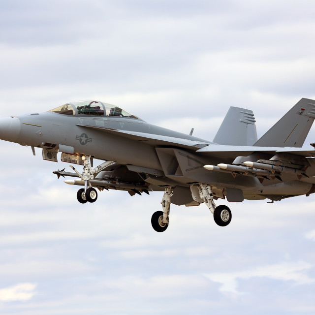 """FA18e Super Hornet"" stock image"