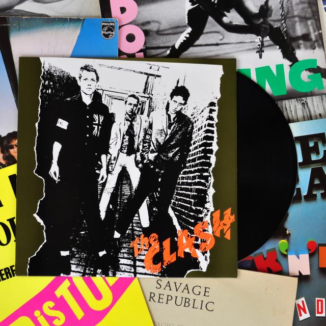"""punk vinyl records"" stock image"