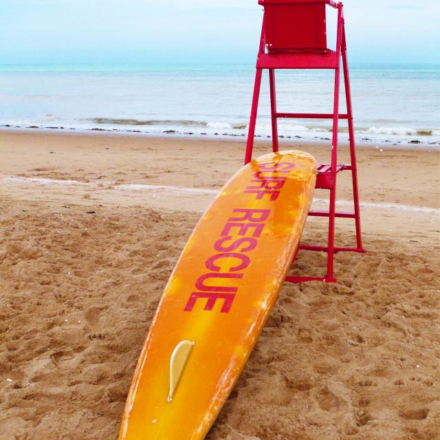 """Missing lifeguard"" stock image"