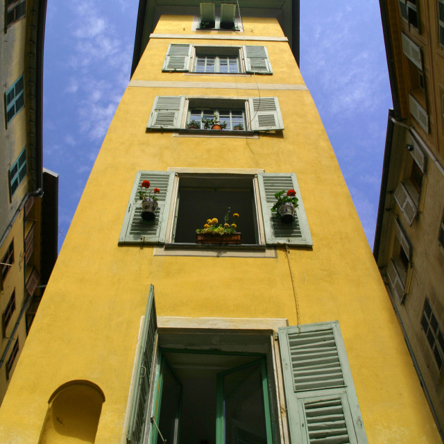 """French townhouse"" stock image"