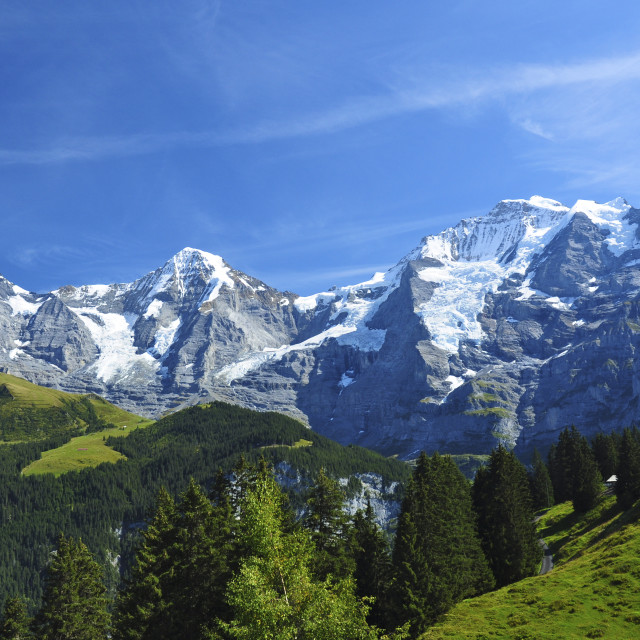 """Swiss Mountain Peaks"" stock image"