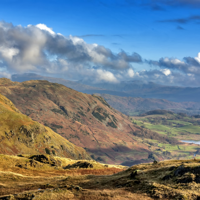 """Langdale Valley Lake District"" stock image"
