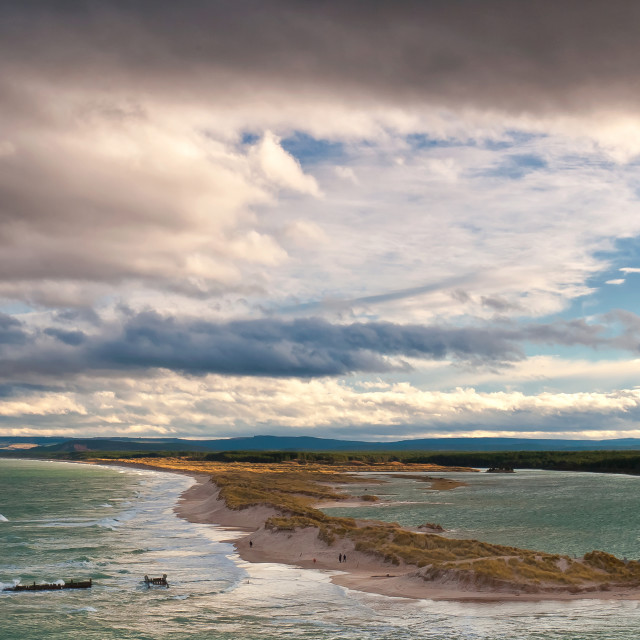 """Lossiemouth Beach"" stock image"