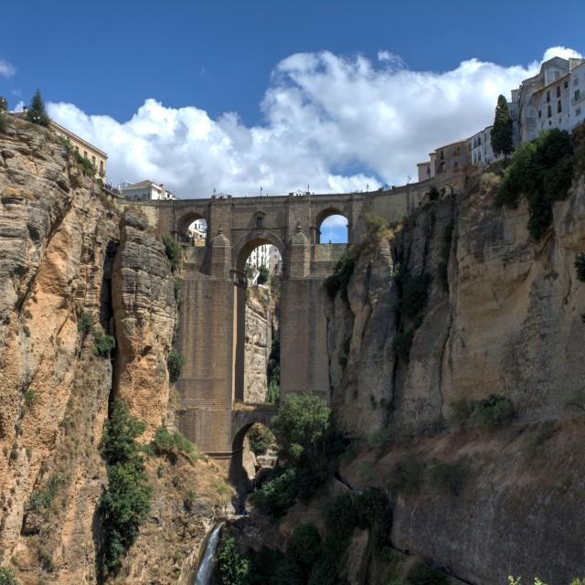 """Puente Nuevo - New Bridge"" stock image"