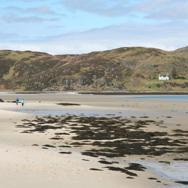 """Sandy Highland beach"" stock image"