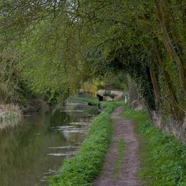"""Canal path"" stock image"