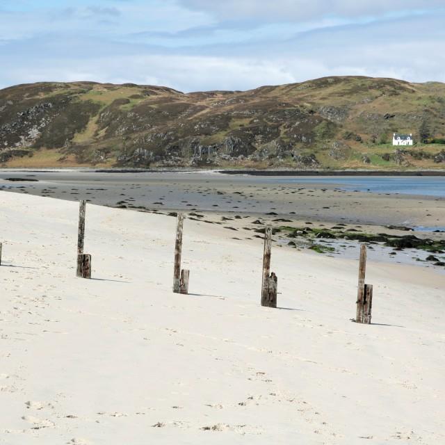 """""""White Scottish beach"""" stock image"""