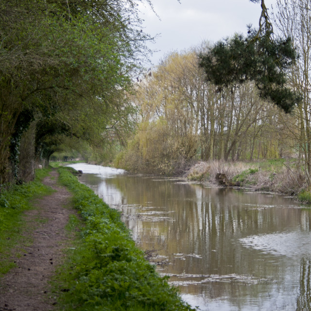 """Canal Towpath"" stock image"