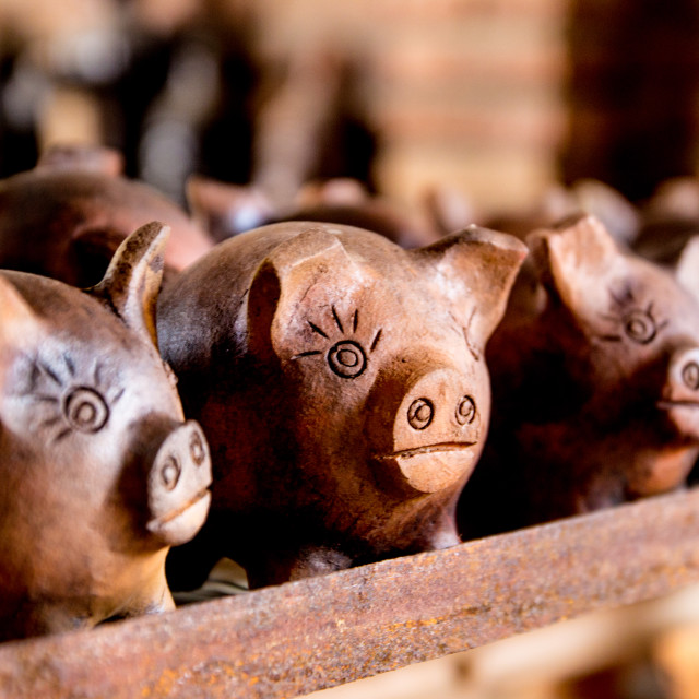 """Piggy banks"" stock image"
