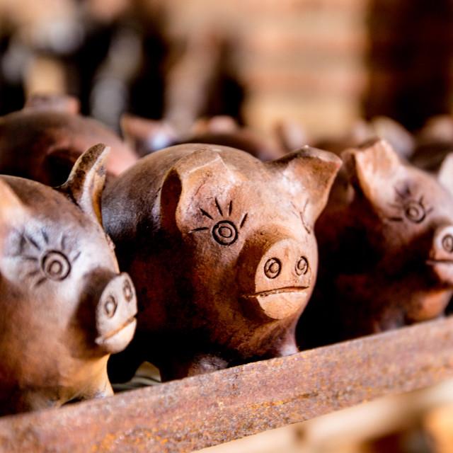 """Piggy banks"" stock image"