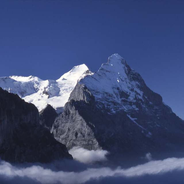 """Mountains including Eiger, Switzerland"" stock image"
