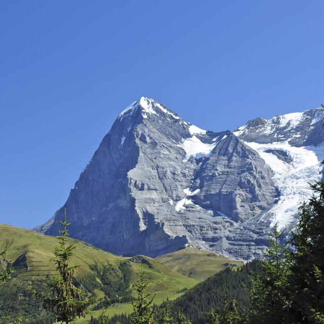 """""""Eiger - Swiss Mountain Icon"""" stock image"""