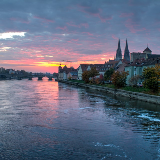 """Regensburg Sunrise"" stock image"